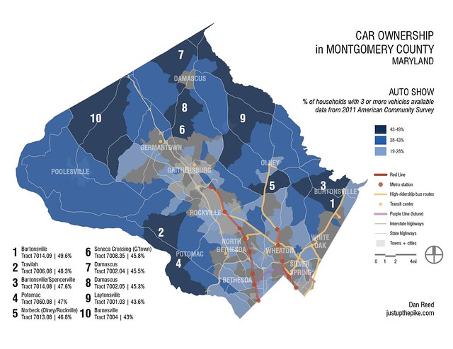 Households with 3 cars