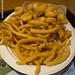 Crevettes et rondelles d'oignon de chez Jake's de Wells, Maine