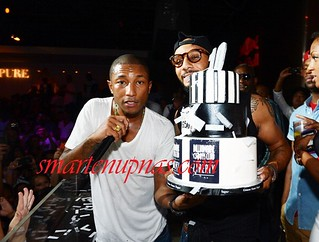 Pharrell Billionaire Boys Club 10 Yr anniversary party with swizz beatz and rocko