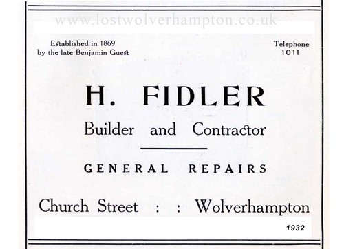 Harold Fidler established in Church Street 1932