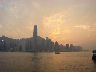 77 Uitzicht Victoria Harbour richting Hong Kong Island