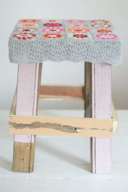 wood & wool stool sold at yvestown fair