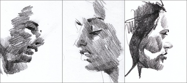 shady portrait sketches