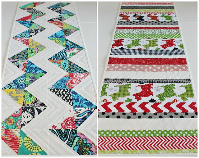 Reversible Table Runner Collage