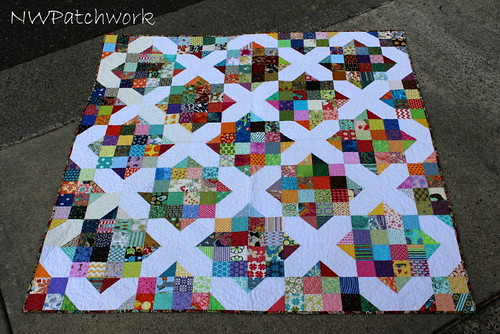 Arkansas Crossroads Scrap Quilt