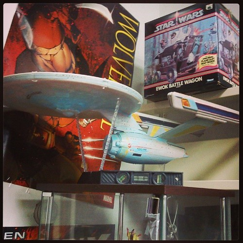 Amazing model of the Enterprise at a comics shop in #Ithaca. The shopkeep proceeded to give me a mild tongue-lashing for taking the photo, because of technology and omnipresent access to photography and the like. Wasn't sure I understood his point, but I