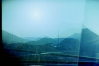 Triple exposure: mountains