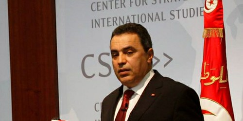 Mehdi Jomaa at CSIS in Washington, DC. Image credit: Prime Ministry Facebook page