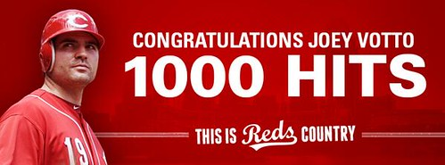 Joey Votto's 1000th hit