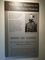 'The Court-Martial of Fitz John Porter' at Brawner's Farm at Manassas National Battlefield Park