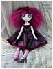 15 inch button eyed Gothic art doll Magrenta Mandrake
