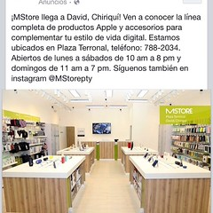 Sigue Chiriquí creciendo en lo Comercial! Nueva tienda especializada de Apple en David.