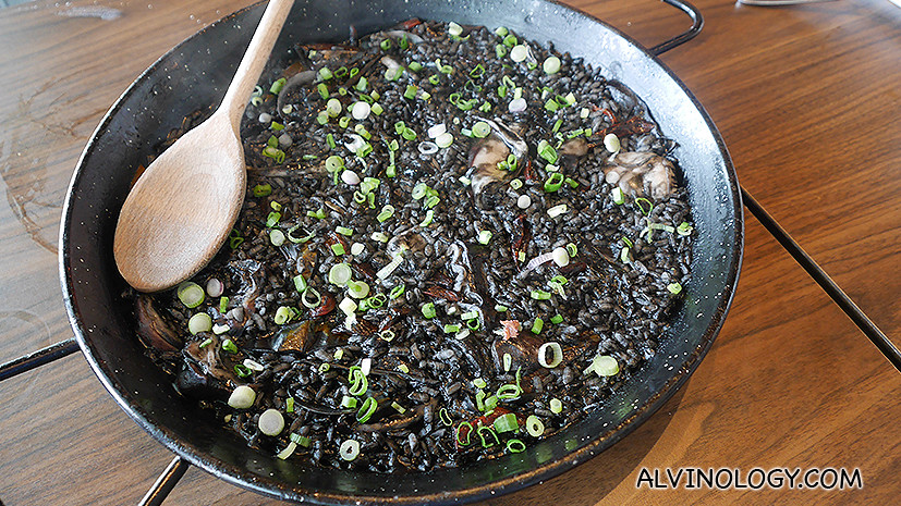 Arroz Negre (squid ink rice) - S$59, love this dish