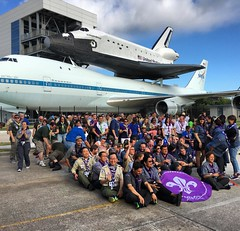 Taking our group picture required #rocketscience. #nasa #ScoutIAR.  #IASCHTX #InteramericanScoutConference #IARSC26 #ConferenciaScoutInteramericana #SMJoseTexas #MessengersOfPeace #ScoutingEducation #WOSM #Scouts #ScoutingMovement #Scouting #MovimientoSco