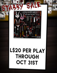 STABBY SALE UNTIL HALLOWEEN!