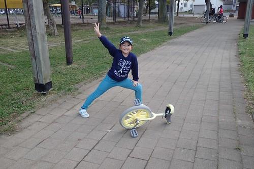 ひなと一輪車