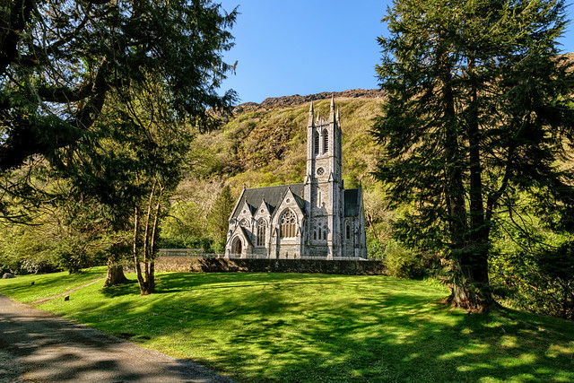 Neo-Gothic Church at Kylemore Abbey - Connemara