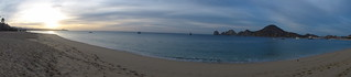 Cabo San Lucas beach sunrise panorama