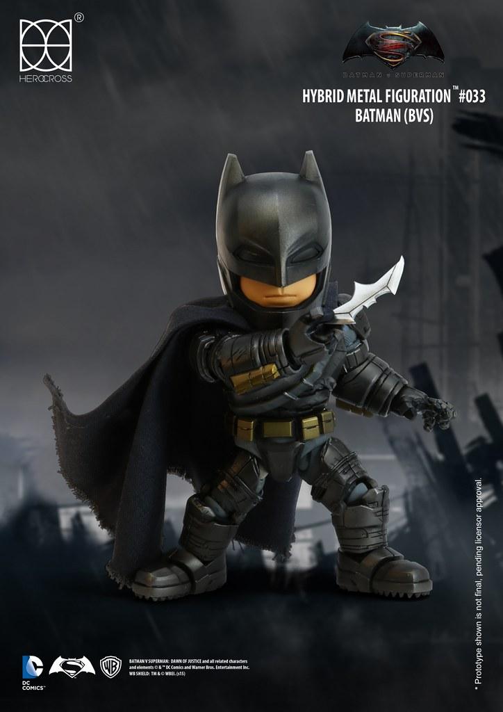 【完整官圖、販售資訊更新】HEROCROSS【蝙蝠俠】蝙蝠俠對超人:正義曙光 Batman HMF#033
