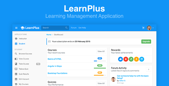 LearnPlus v2.0.0 – Learning Management Application