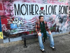 That day at the #motherlovebone #mural in #seattle #washington #streetart #grunge #ripandywood #easystreet #singles
