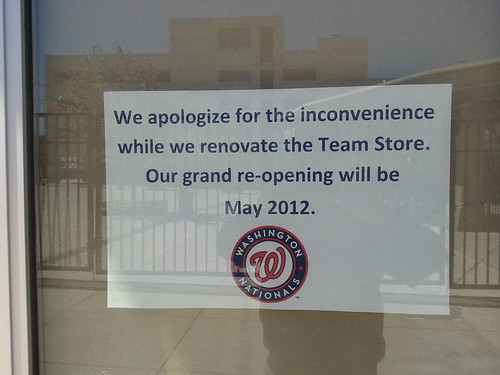 Closed: Washington Nationals team store