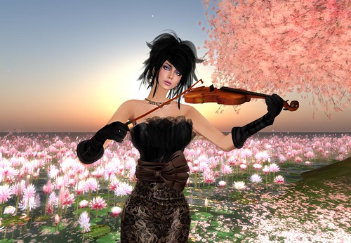 **!bang - strolling violin - GIFT - MESH (Update Group) by Cherokeeh Asteria