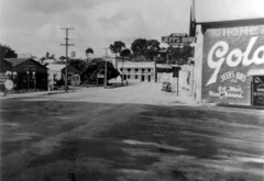 Commercial Hotel in distance c1937