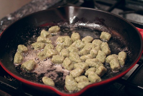 Ramp Gnocchi in brown butter sauce