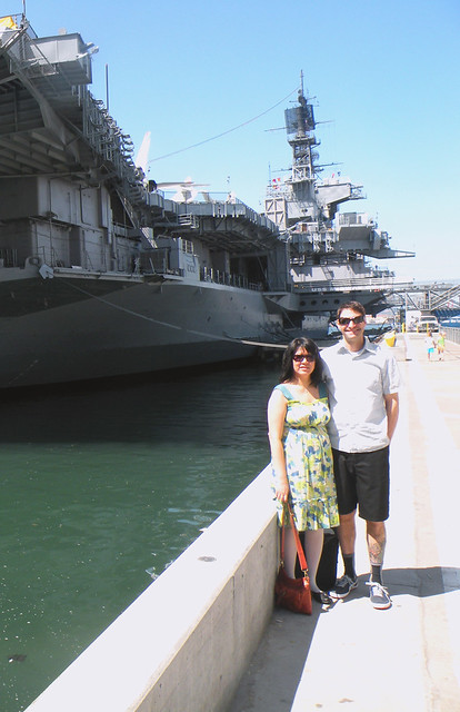 Infront of the Midway Battleship Museum