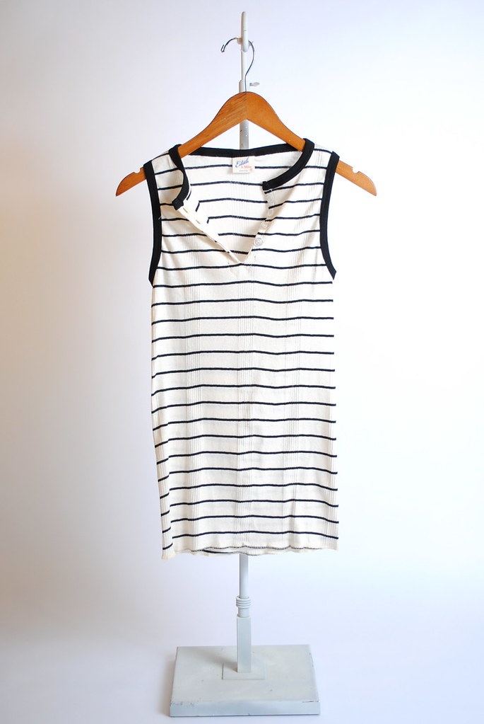 Henley Striped Tank