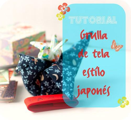 Tutorial: Grulla de tela estilo japonés 1