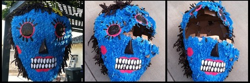 Calaca piñata pre and post