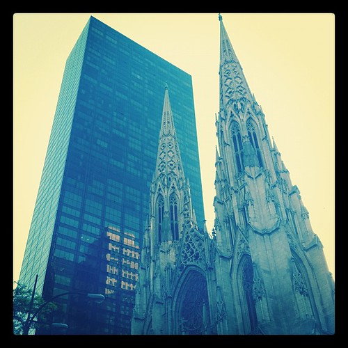 St Patrick's Cathedral - I always admired this view, contrast between older & modern structures #nyc #midtown #newyork