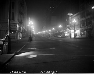 Second Avenue at night, 1952
