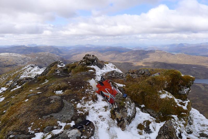 Looking for signal (summit of Bidein a' Choire Sheasgaich)