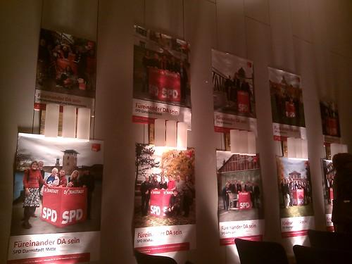 Kandidatenplakate der SPD Darmstadt