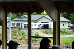Airplane in driveway, not uncommon in Alaska!