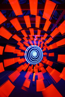 Red cathode, blue spiral