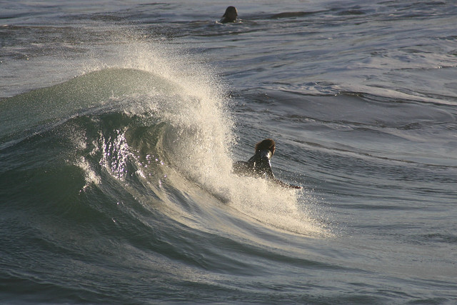 Body boarder at Knights