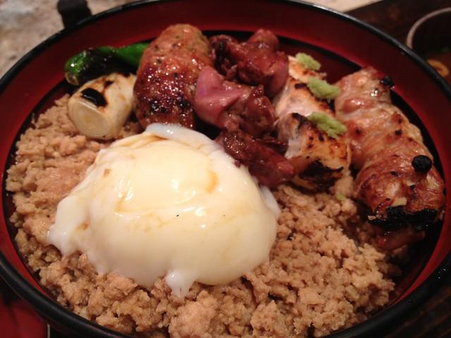 鶏味座 焼鳥丼(レバー入り)