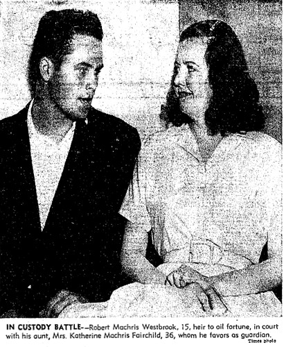 robert westbrook and aunt katherine machris