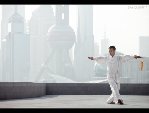 Tai Chi on The Bund.