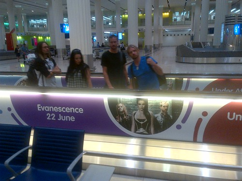 Evanescence at the airport