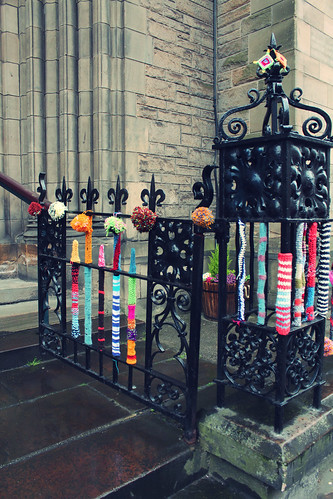 yarnbombed church