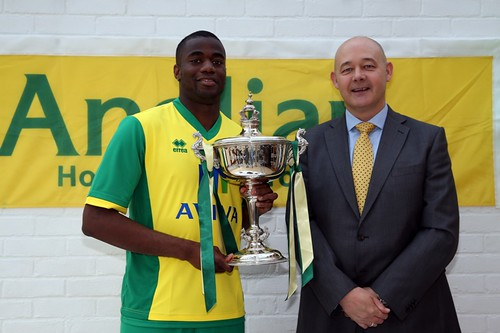 Bassong with Ian Dallas