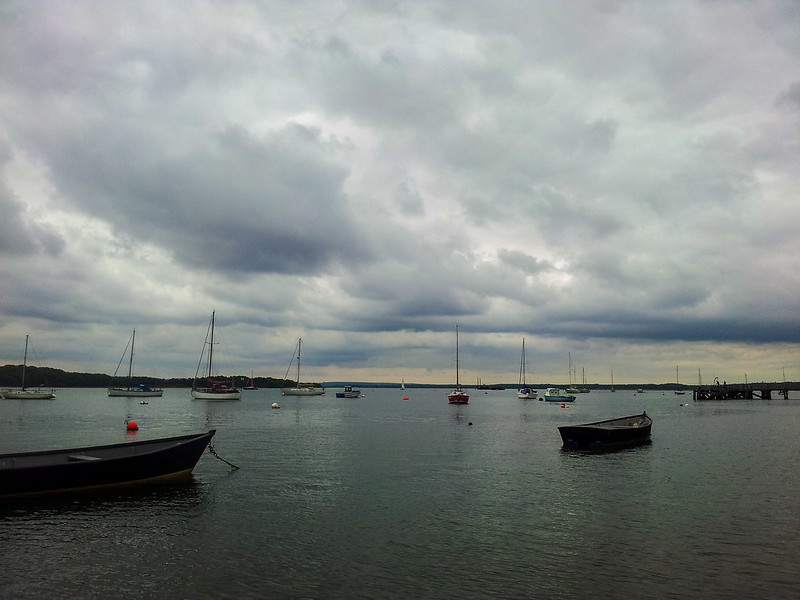 View across Poole Harbour from Hamworthy
