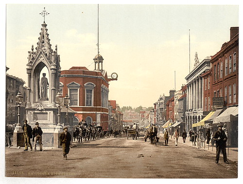 [High Street, Maidstone, England]  (LOC) by The Library of Congress