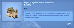 Myth, Legends, Lore, and Fact Facility