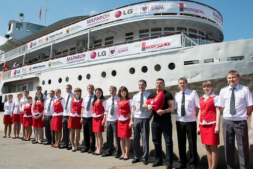 LG전자, 러시아 이색 헌혈 캠페인 현장